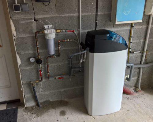 Installation adoucisseur d'eau